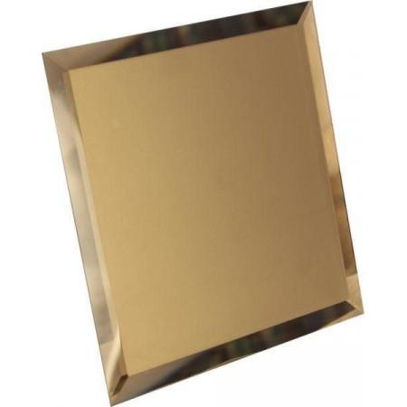 Квадратная зеркальная графитовая плитка с фацетом 10мм КЗГ1-02