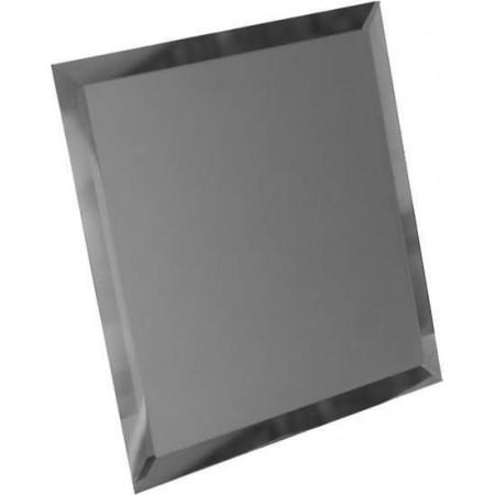 Квадратная зеркальная золотая плитка с фацетом 10мм КЗЗ1-03