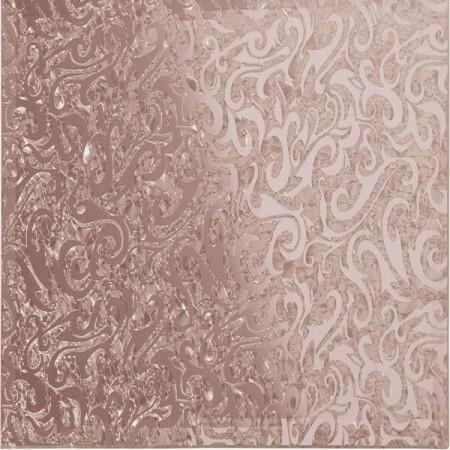 Квадратная зеркальная зеркальная рыжая плитка Алладин-1 КЗРАл-1
