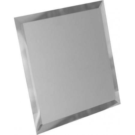 Квадратная зеркальная бронзовая плитка с фацетом 10мм КЗБ1-01