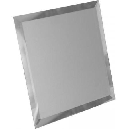 Треугольная зеркальная серебряная плитка с фацетом 10мм ТЗС1-04