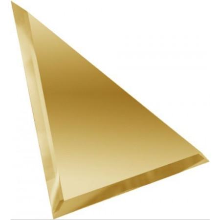 Квадратная зеркальная бронзовая плитка с фацетом 10мм КЗБ1-02