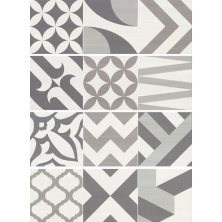 Aurelia Ceramiche Flou Dec. Flou White Decoro Patchwork 20x60