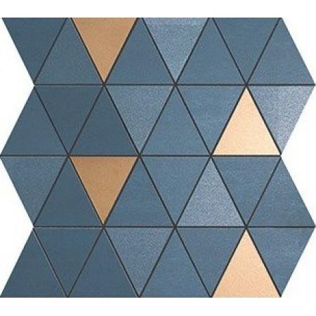 Atlas Concorde Mek Blue Mosaico Diamond Gold Wall 30.5x30.5