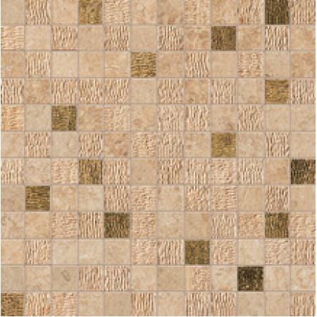 Atlas Concorde Sunrock Bourgogne Sand Mosaico Gold 30x30