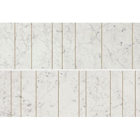 Настенная плитка Italon Charme Extra Wall Project Cha. Ext. Carrara Ins.Golden Line 75x25