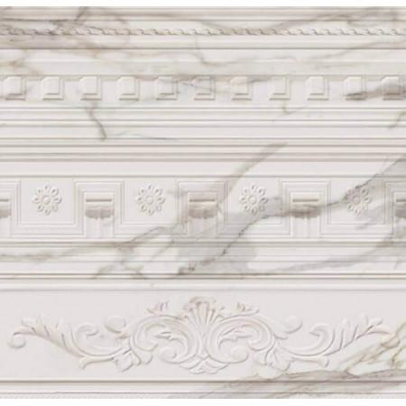 Настенная плитка Italon Charme Evo Wall Project Calacatta Inserto Arty 75x25