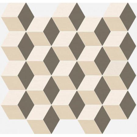 Мозаика Italon Element Silk Mosaico Cube Warm 30.5x33